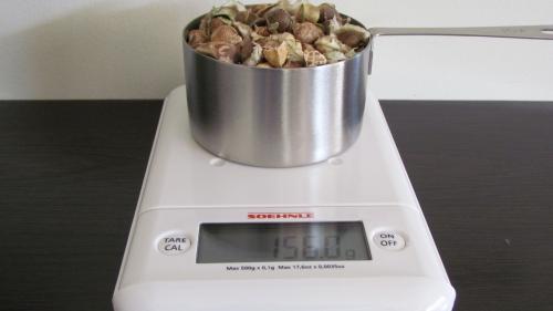 1 Cup Moringa Seeds = 156 Grams (Gross Weight)