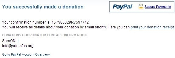 Donation to Fight Against Bayer who are trying to overturn a Ban on Neonicotinoids