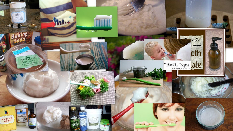 Homemade DIY Toothpaste Recipes