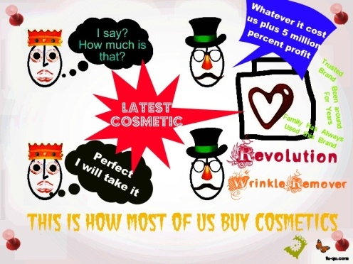 This is an Analogy of How Most of us Buy Cosmetics Today