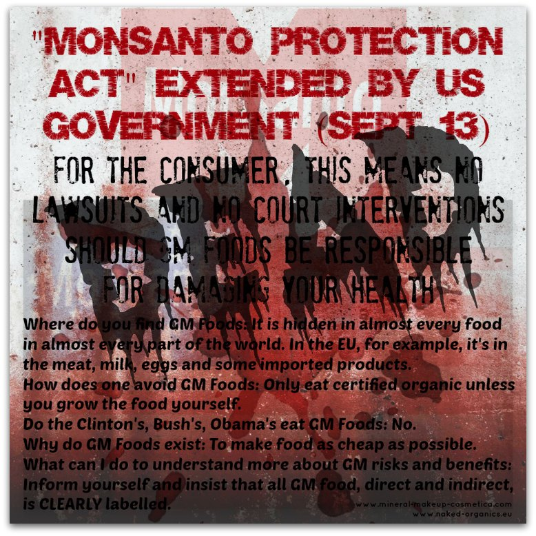 Monsanto Protection Act is now Dead