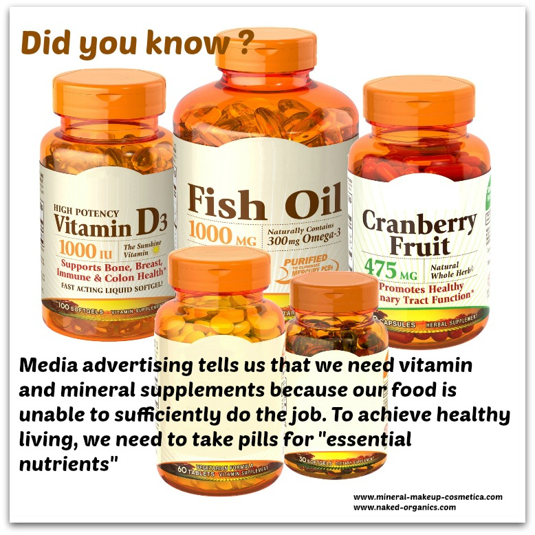 Infographic - We are Taught to Eat Processed Foods and Supplement the Missing Nutrients with Pills