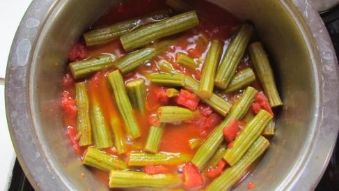 Moringa Tomato Stew Simmering for a Few Minutes