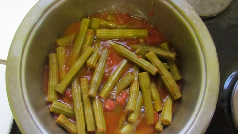 Moringa Tomato Stew Ready to be Served