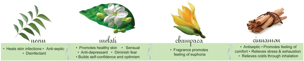 Neem, Melati, Champaca and Cinnamon Essential Oils