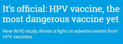 HPV Vaccine is Dangerous - WHO