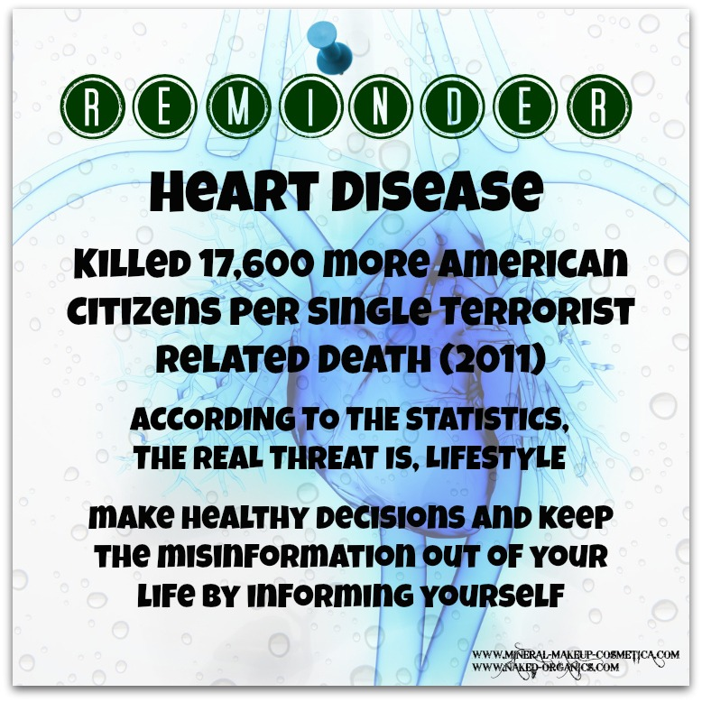 Infographics - Statistics Show that in 2011, the Real American Enemy was Heart Disease