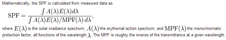 SPF Mathematical Formula